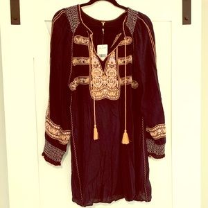 Free People Embroidered Bohemian Dress